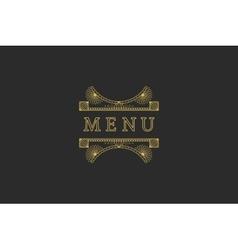 Restaurant Menu Headline vector image