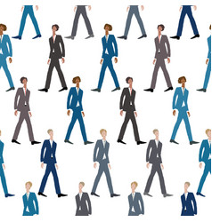 Seamless background sketches striding young vector