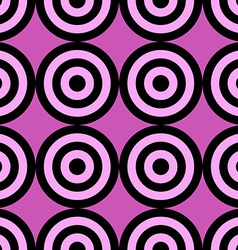 Seamless pattern of target circles vector image