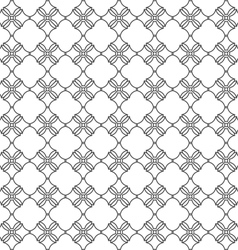 Seamless pattern with stylized flower in oriental vector image