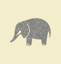 simple icon elephant vector image