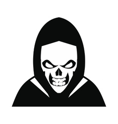 Skeleton icon black vector image
