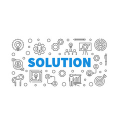 solution outline concept or vector image