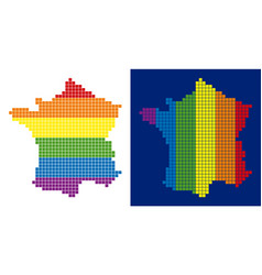 spectrum pixel dotted france map vector image