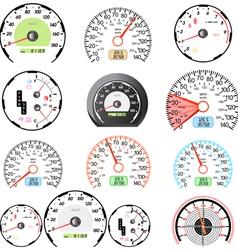 Speedometers set vector