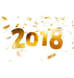stock 2018 happy new year vector image