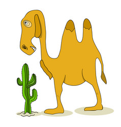 Stock camel and cactus vector
