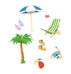 summer time accessory vector image