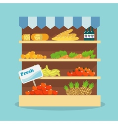 Supermarket food collection vector
