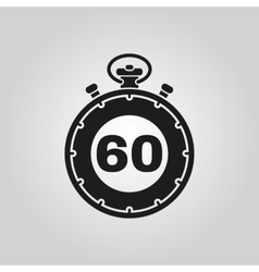 The 60 seconds minutes stopwatch icon Clock and vector image