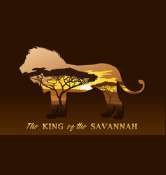 The king of the savannah vector