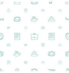 Tourism icons pattern seamless white background vector
