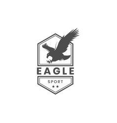 vintage eagle hawk logo template vector image