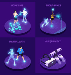 Vr sports isometric design concept vector