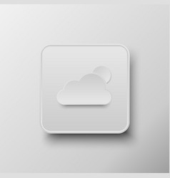 Weather button white button vector