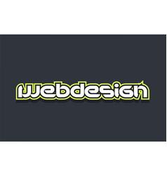 Webdesign web design word text logo design green vector