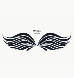 wings pattern on a light background vector image