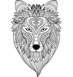 zendoodle stylize of dire wolf vector image