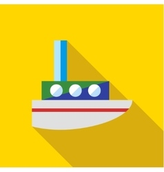 A child s toy boat on a yellow background vector image vector image