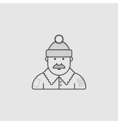 a set of unique characters contour different vector image