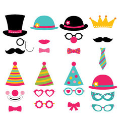 Birthday party photo booth props vector image vector image