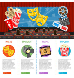 cinema and movie infographics vector image