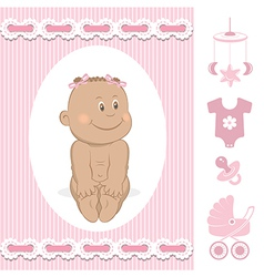 Cute African baby girl vector image vector image