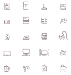 Domestic appliances icon set vector image vector image