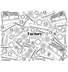 Factory colorless set vector