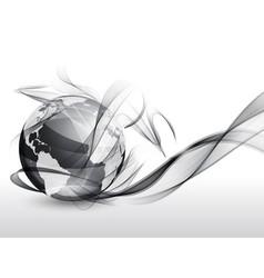 Globe in smoke vector image vector image