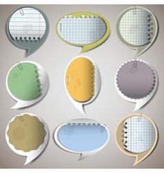 Paper speech bubbles 2 vector image