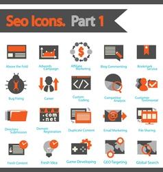 Seo icon set part 1 vector
