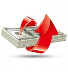 bundle of dollars vector image