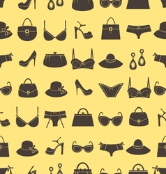 fashion accessories pattern vector image vector image