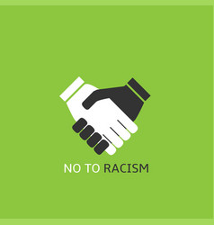 no to racism vector image vector image