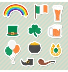 Saint Patricks Day stickers vector image