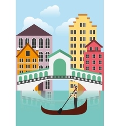 Venecia city icon Italy culture design vector image