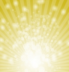 Abstract bokeh on yellow background vector image