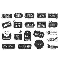 discount coupons sale banners special offer vector image