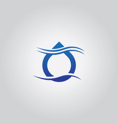 droplet wave logo vector image vector image