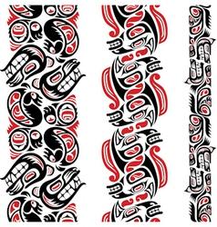 Haida style tattoo pattern vector image