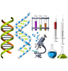 science and genetics icons vector image