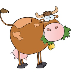 Farm Dairy Cow Cartoon Character vector image vector image
