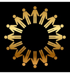 icon of people standing in a circle vector image