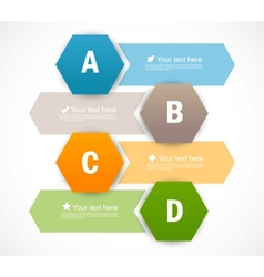 Set of banners with hexagons Infographic design vector image