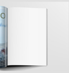 3d realistic magazine with clear white page vector