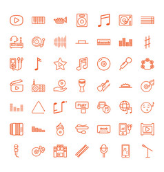 49 music icons vector image