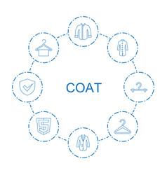 8 coat icons vector
