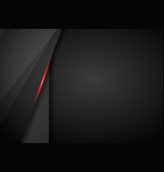 abstract metallic red black frame layout design vector image