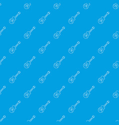 acoustic guitar pattern seamless blue vector image